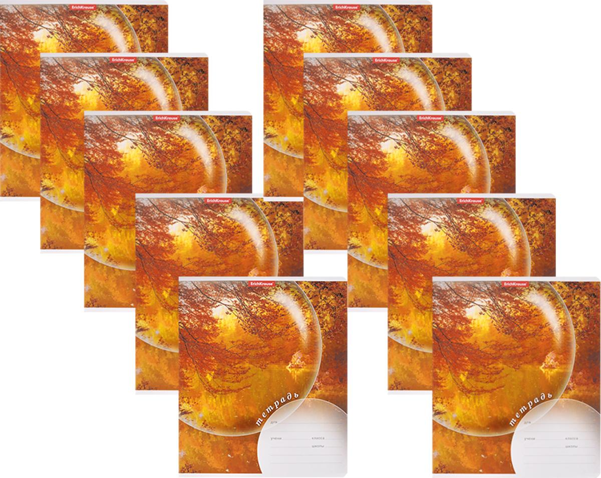 Erich Krause Набор тетрадей Магия природы Осень 1 24 листа в линейку 10 шт72523WDНабор тетрадей Erich Krause Магия природы Осень предназначен для младших школьников. Обложка каждой тетради выполнена из плотного картона с закругленными углами и оформлена изображением осеннего пейзажа.На обратной стороне обложки имеется справочная информация (русский и английский прописные алфавиты).Внутренний блок тетрадей состоит из 24 листов белой бумаги в линейку с красными полями.В наборе 10 тетрадей.