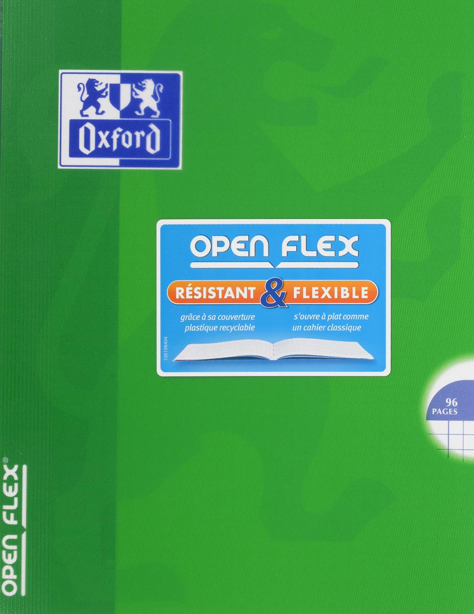Oxford Тетрадь Openflex 48 листов в клетку цвет зеленый48Т5В1_03990Красивая и практичная тетрадь Oxford Openflex отлично подойдет для офиса и учебы. Тетрадь формата А5 состоит из 48 белых листов с полями и четкой яркой линовкой в клетку. Обложка тетради выполнена из плотного полупрозрачного полипропилена и оформлена символом Оксфордского университета. Металлические скрепки надежно удерживают листы. Также тетрадь имеет скругленные углы и страничку для заполнения данных владельца.