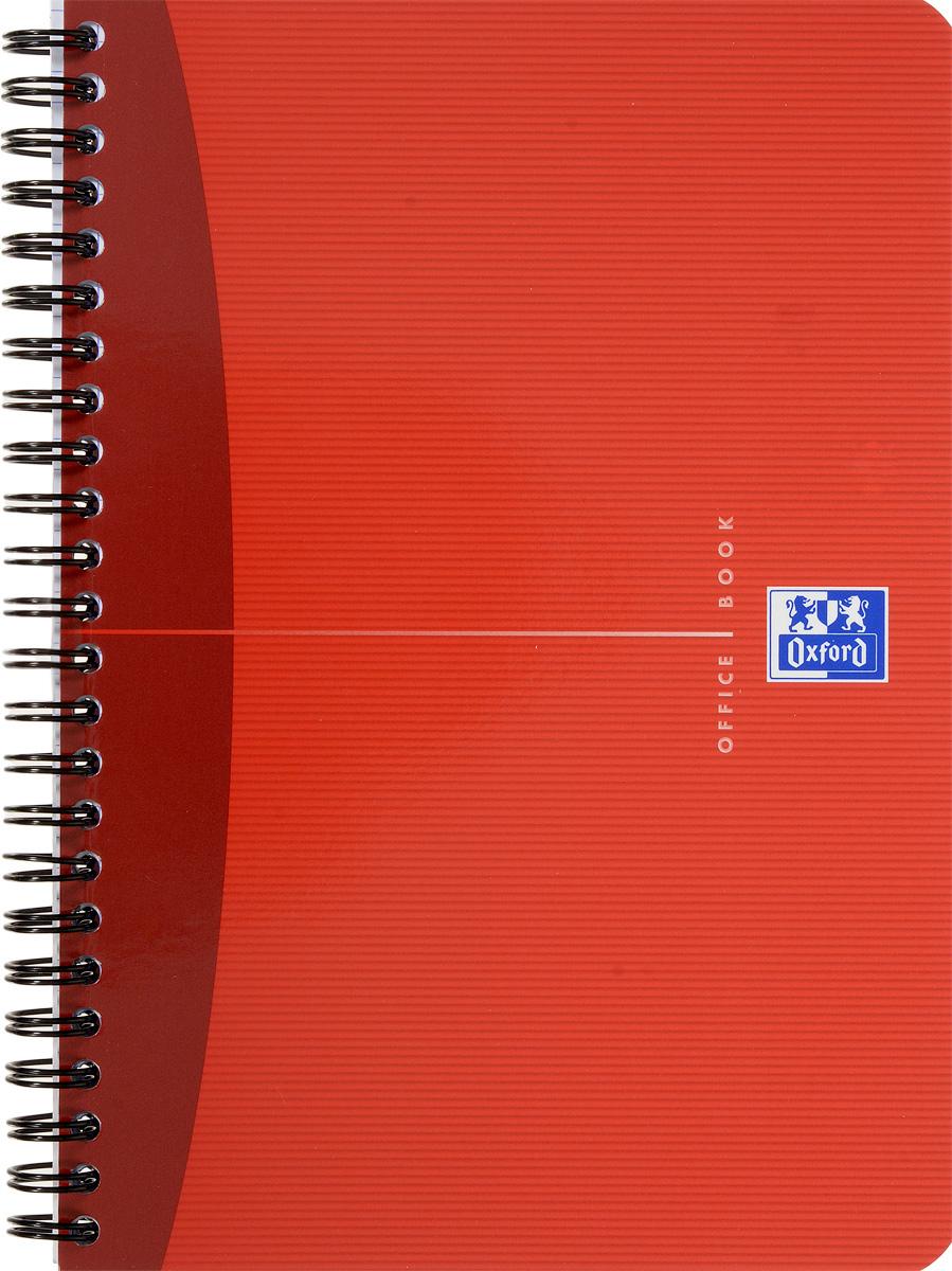 Oxford Тетрадь Essentials 90 листов в клетку цвет красный48Т5В1_03988Стильная практичная тетрадь Oxford Essentials отлично подойдет для офиса и учебы. Тетрадь формата А5 состоит из 90 белых листов с четкой яркой линовкой в клетку. Обложка тетради выполнена из ламинированного картона и оформлена символом Оксфордского университета. Двойная спираль надежно удерживает листы. Также тетрадь имеет скругленные углы и гибкую съемную закладку-линейку из матового полупрозрачного пластика с изображением лондонского Биг Бена.