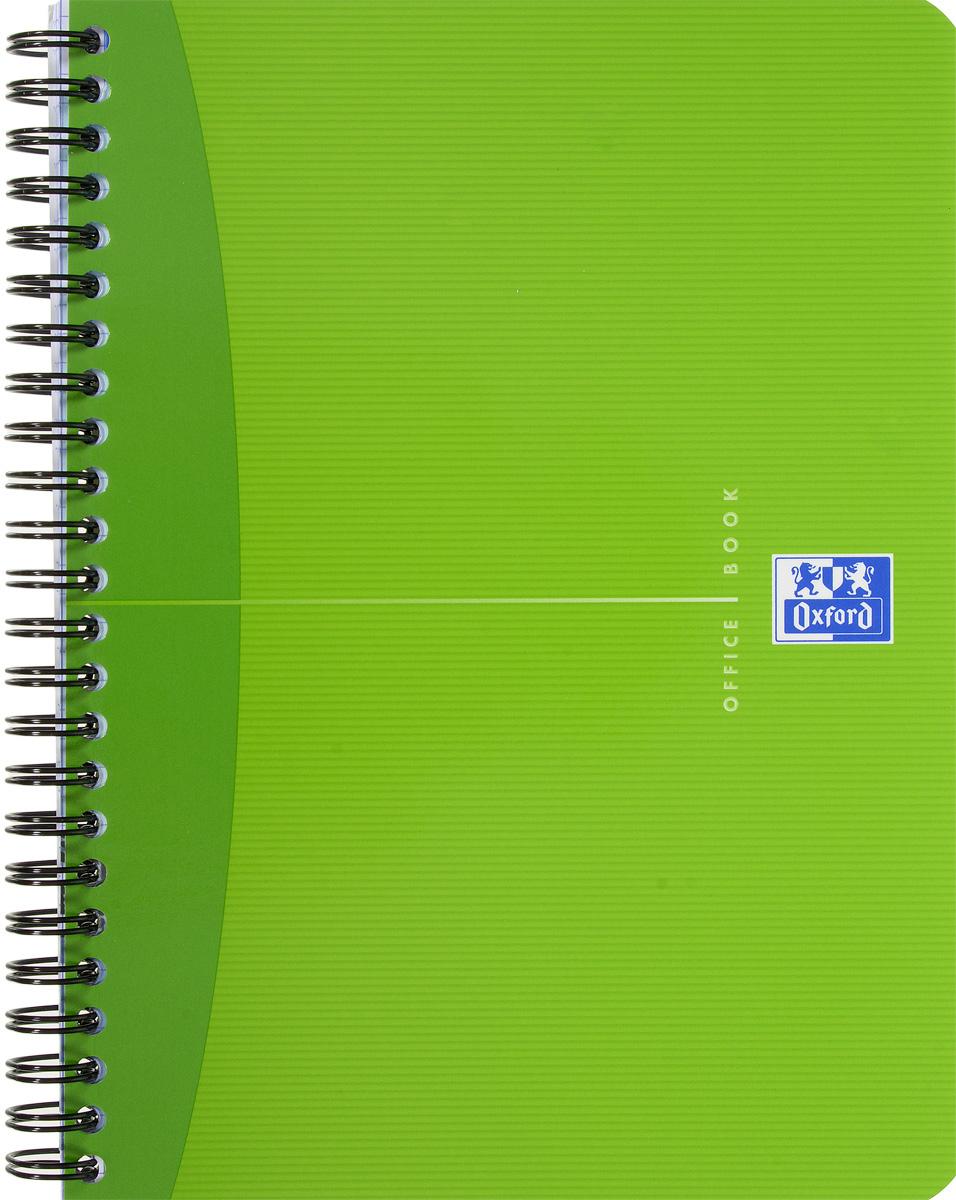 Oxford Тетрадь Essentials 90 листов в клетку цвет салатовый38930Стильная практичная тетрадь Oxford Essentials отлично подойдет для офиса и учебы. Тетрадь формата А5 состоит из 90 белых листов с четкой яркой линовкой в клетку. Обложка тетради выполнена из ламинированного картона и оформлена символом Оксфордского университета. Металлический гребень надежно удерживает листы. Также тетрадь имеет скругленные углы и гибкую съемную закладку-линейку из матового полупрозрачного пластика с изображением лондонского Биг Бена.