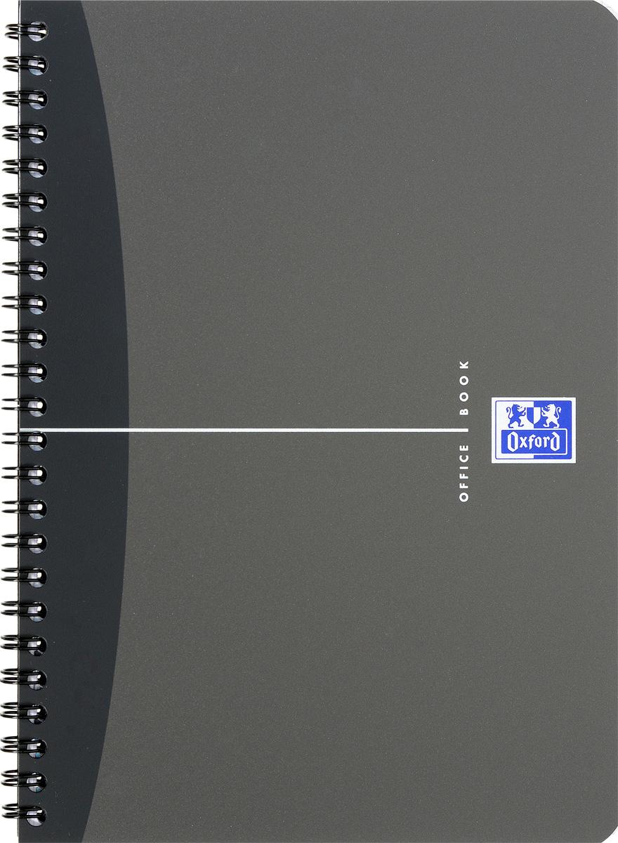 Oxford Тетрадь Urban Mix 50 листов в клетку цвет серый72523WDКрасивая и практичная тетрадь Oxford Urban Mix отлично подойдет для офиса и учебы. Тетрадь формата А5 состоит из 50 белых листов с четкой яркой линовкой в клетку. Обложка тетради выполнена из плотного полипропилена и оформлена символом Оксфордского университета. Двойная спираль надежно удерживает листы. Также тетрадь имеет скругленные углы и гибкую съемную закладку-линейку из матового полупрозрачного пластика.