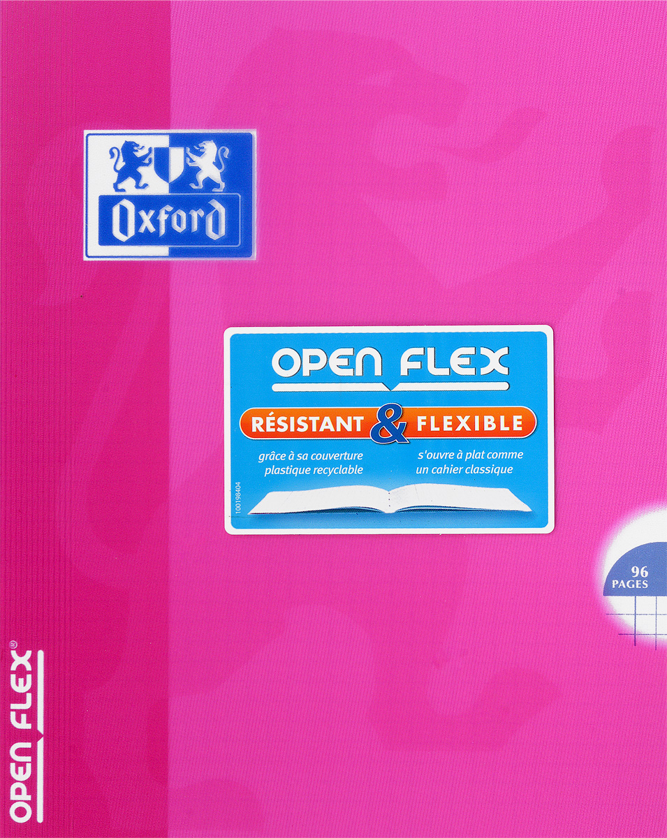 Oxford Тетрадь Openflex 48 листов в клетку цвет розовый48Т5В1_03990Красивая и практичная тетрадь Oxford Openflex отлично подойдет для офиса и учебы. Тетрадь формата А5 состоит из 48 белых листов с полями и четкой яркой линовкой в клетку. Обложка тетради выполнена из плотного полупрозрачного полипропилена и оформлена символом Оксфордского университета. Металлические скрепки надежно удерживают листы. Также тетрадь имеет скругленные углы и страничку для заполнения данных владельца.