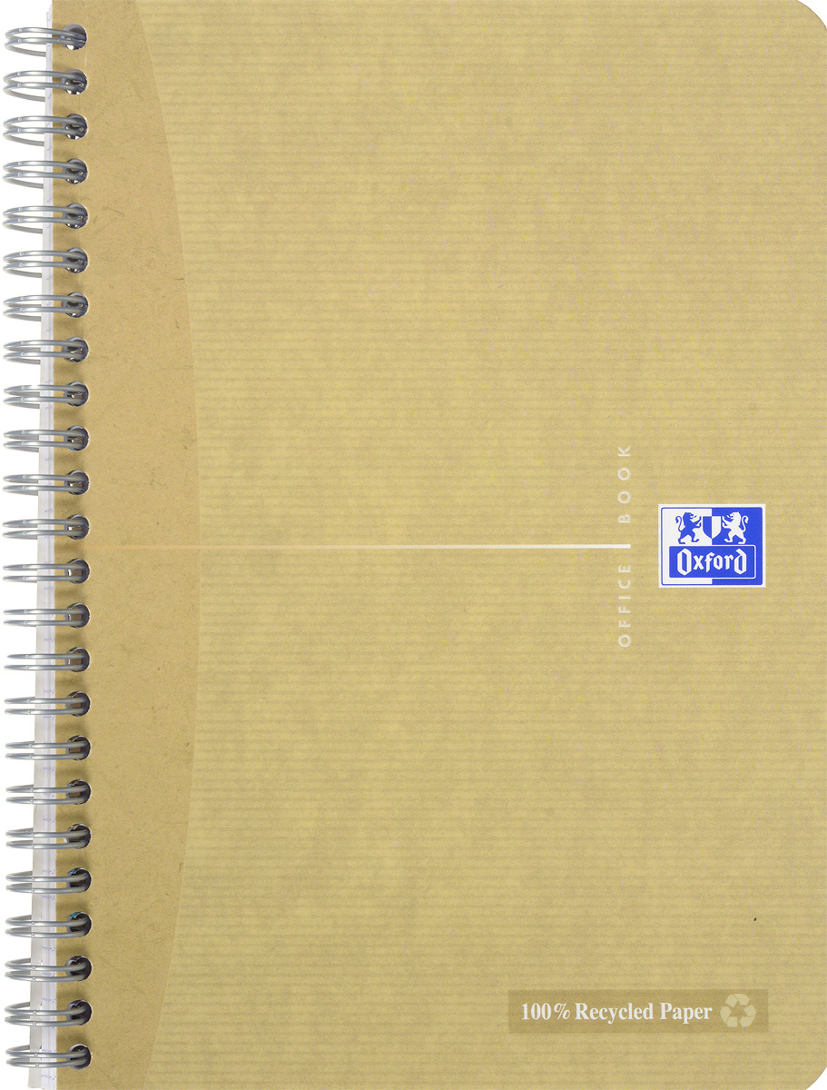 Oxford Тетрадь Эко 90 листов в клетку цвет бежевый48Т5В1_03990Стильная практичная тетрадь Oxford Эко отлично подойдет для офиса и учебы. Тетрадь формата А5 состоит из 90 белых листов с четкой яркой линовкой в клетку. Обложка тетради выполнена из матового картона и оформлена символом Оксфордского университета. Двойная спираль надежно удерживает листы. Также тетрадь имеет скругленные углы и гибкую съемную закладку-линейку из матового пластика с изображением фрагмента дерева.