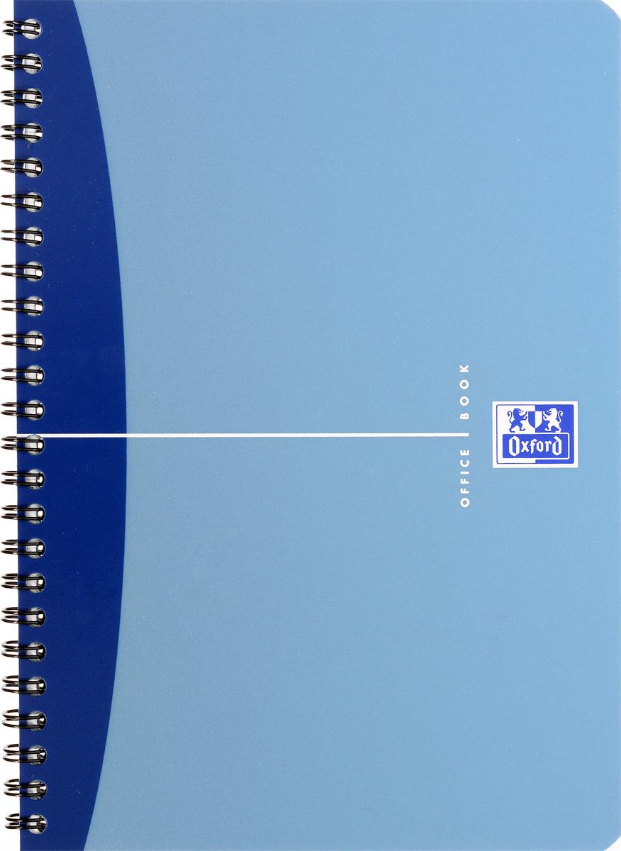 Oxford Тетрадь Urban Mix 50 листов в клетку цвет синий72523WDКрасивая и практичная тетрадь Oxford Urban Mix отлично подойдет для офиса и учебы. Тетрадь формата А5 состоит из 50 белых листов с четкой яркой линовкой в клетку. Обложка тетради выполнена из плотного полипропилена и оформлена символом Оксфордского университета. Двойная спираль надежно удерживает листы. Также тетрадь имеет скругленные углы и гибкую съемную закладку-линейку из матового полупрозрачного пластика с изображением лондонского Биг Бена.
