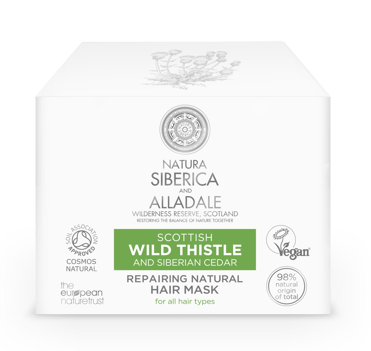 Natura Siberica and Alladale Восстанавливающая маска для волос 120 мл label m маска мёд и овёс 120 мл