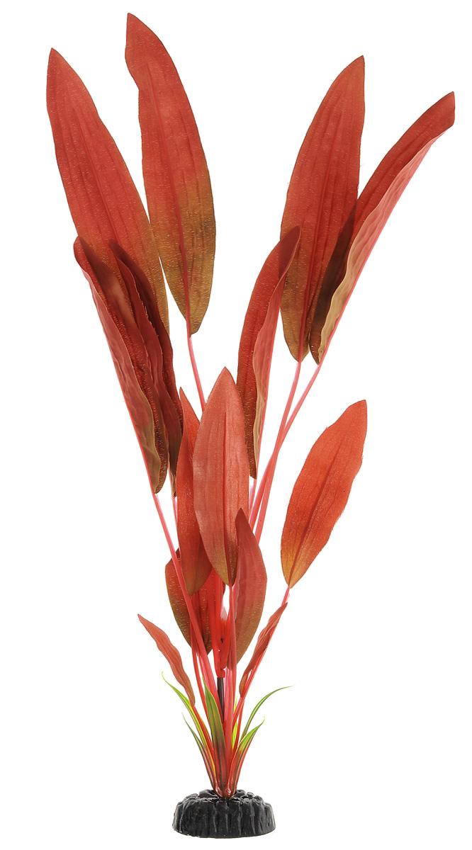 Растение для аквариума Barbus Криптокорина красная, шелковое, высота 50 см0120710Растение для аквариума Barbus Криптокорина красная, выполненное из высококачественного нетоксичного пластика и шелка, станет прекрасным украшением вашего аквариума. Шелковое растение идеально подходит для дизайна всех видов аквариумов. В воде происходит абсолютная имитация живых растений. Изделие не требует дополнительного ухода и просто в применении.Растение абсолютно безопасно, нейтрально к водному балансу, устойчиво к истиранию краски, подходит как для пресноводного, так и для морского аквариума. Растение для аквариума Barbus Криптокорина красная поможет вам смоделировать потрясающий пейзаж на дне вашего аквариума или террариума.