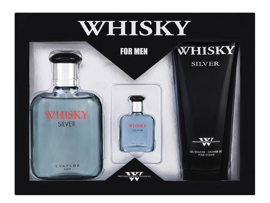 Evaflor Подарочный набор Evaflor Silver для мужчин: туалетная вода, 100 мл + 7,5 мл; гель для душа, 200 мл0737052549972Аромат Whisky Silver - выбор современного мужчины. Наполняет прохладой и свежестью. Классификация аромата: древесный. Пирамида аромата: Верхние ноты: бергамот, лимон, мандарин. Ноты сердца: морская нота, фрезия, цикламен. Ноты шлейфа: кедр, пачули, мускус. Ключевые слова: прохладный и бодрящий, с серебряными искрами свежей морской воды! Характеристики:Объем туалетной воды: 100 мл; 7,5 мл.Объем геля: 200 мл.Размер упаковки: 25 см х 5,5 см х 19 см.Производитель: Россия.Туалетная вода - один из самых популярных видов парфюмерной продукции. Туалетная вода содержит 4-10%парфюмерного экстракта. Главные достоинства данного типа продукции заключаются в доступной цене, разнообразии форматов (как правило, 30, 50, 75, 100 мл), удобстве использования (чаще всего - спрей). Идеальна для дневного использования. Товар сертифицирован.
