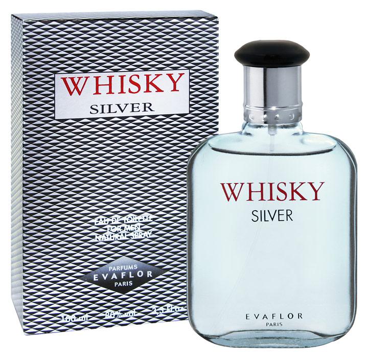 Evaflor Whisky Silver. Туалетная вода, 100 мл1301210Evaflor Whisky Silver - выбор современного мужчины. Наполняет прохладой и свежестью.Классификация аромата: древесный. Пирамида аромата:Верхние ноты: бергамот, лимон, мандарин.Ноты сердца: морская нота, фрезия, цикламен. Ноты шлейфа: кедр, пачули, мускус.Ключевые слова:Прохладный и бодрящий, с серебряными искрами свежей морской воды! Характеристики: Объем: 100 мл. Производитель: Франция.Туалетная вода - один из самых популярных видов парфюмерной продукции. Туалетная вода содержит 4-10%парфюмерного экстракта. Главные достоинства данного типа продукции заключаются в доступной цене, разнообразии форматов (как правило, 30, 50, 75, 100 мл), удобстве использования (чаще всего - спрей). Идеальна для дневного использования. Товар сертифицирован.