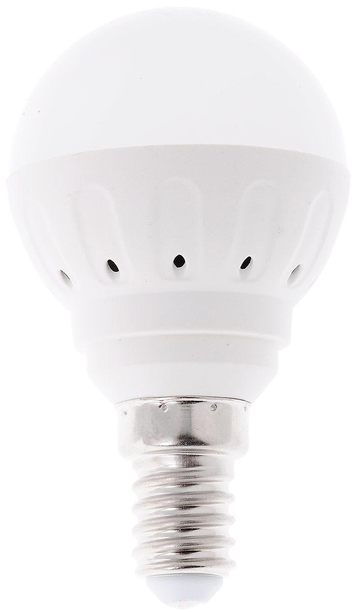 Светодиодная лампа Космос, белый свет, цоколь E14, 5WC0038550Светодиодная лампа Космос отличается низкимэнергопотреблением. Срок службы лампы 30000 часов,это в 30 раз дольше, чем у лампы накаливания.Устойчива к вибрациям и высоким перепадамтемператур. Обладает высокой механическойпрочностью и вибростойкостью. Характеризуетсяотсутствием ультрафиолетового и инфракрасногоизлучений. Эквивалентна лампе накаливания мощностью60 Вт. Светит рассеянным светом как обычная лампа.Подходит для всех светильников. Номинальное напряжение: 220-240 В. Номинальная частота: 50/60 Гц. Рабочий ток: 0,04 А. Угол рассеивания: 270°. Срок службы: 30 000 ч. Стабильная работа при температуре: от -40°С до +50°С.Уважаемые клиенты! Обращаем ваше внимание на возможные изменения в дизайне упаковки. Качественные характеристики товара остаются неизменными. Поставка осуществляется в зависимости от наличия на складе.