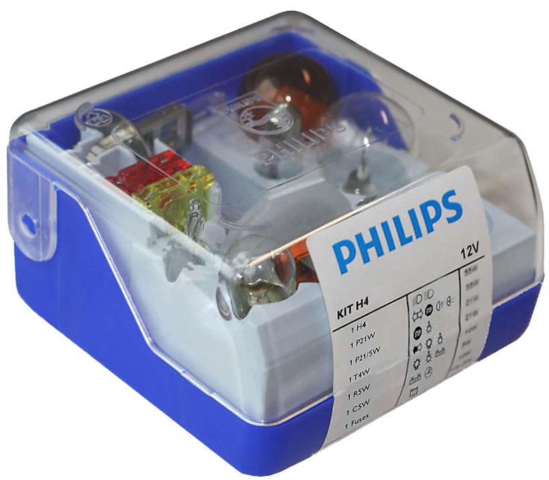 Комплект ламп Philips H4 Vision Single Kit: H4, P21W, P21/5W, PY21W, R5W, C5W, Т4W, Fuse 15A, Fuse 20A, Fuse 30A. 55005SKKM10503В комплект Sing;e Kit входят лампы H4 для автомобильных фар, обеспечивающие на 30 % больше света. Наши лампы излучают мощный точно направленный луч света и характеризуются высокой светоотдачей, увеличивая видимость Вашего автомобиля на дороге.