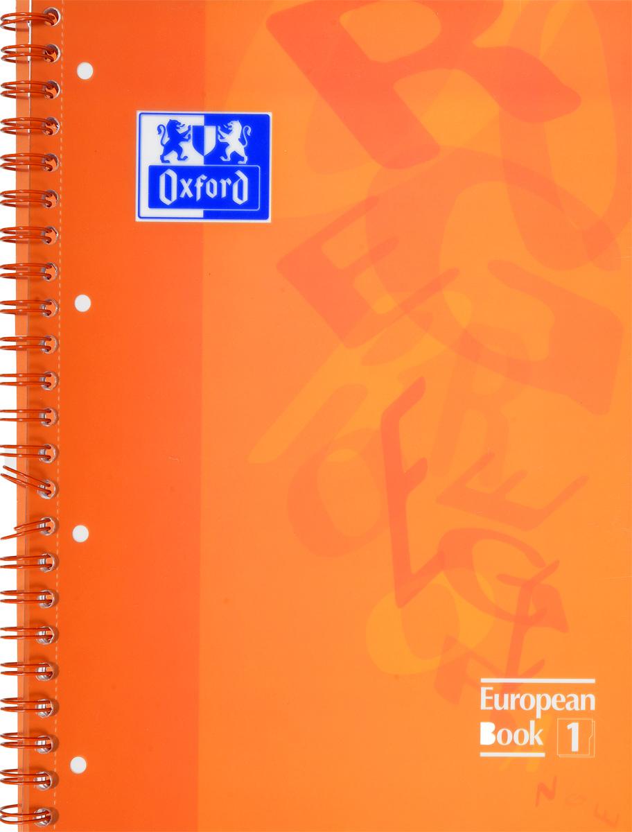 Oxford Тетрадь European Book 80 листов в клетку цвет оранжевый72523WDКрасивая и практичная тетрадь Oxford European Book отлично подойдет для офиса и учебы. Тетрадь формата А4 состоит из 80 белых листов в цветной рамке и с четкой яркой линовкой в клетку. Обложка тетради выполнена из плотного полупрозрачного полипропилена и оформлена изображением английских букв. Двойная спираль надежно удерживает листы. Также тетрадь имеет скругленные углы и пластиковый разделитель на два блока.