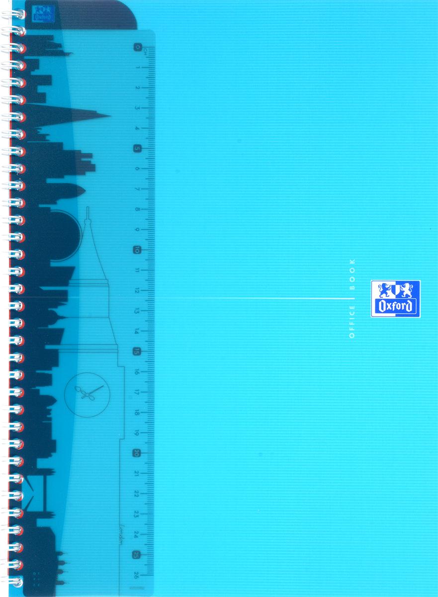 Oxford Тетрадь My Colours 50 листов в клетку цвет голубой06197/437676Красивая и практичная тетрадь Oxford My Colours отлично подойдет для офиса и учебы. Тетрадь формата А4 состоит из 50 белых листов с четкой яркой линовкой в клетку. Обложка тетради выполнена из плотного полипропилена и оформлена символом Оксфордского университета. Двойная спираль надежно удерживает листы. Также тетрадь имеет скругленные углы и гибкую съемную закладку-линейку из матового прозрачного пластика.