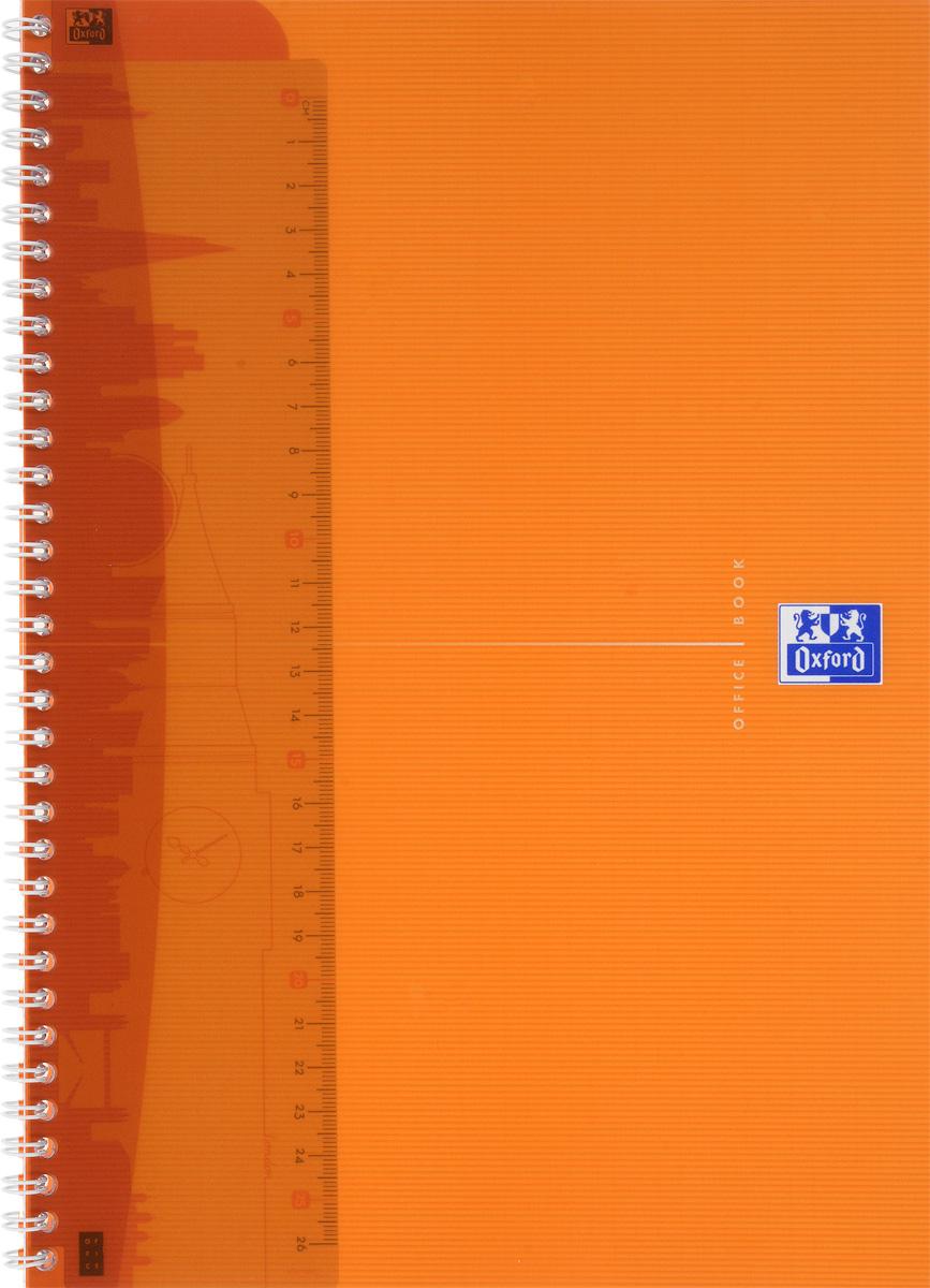 Oxford Тетрадь My Colours 50 листов в клетку цвет оранжевый72523WDКрасивая и практичная тетрадь Oxford My Colours отлично подойдет для офиса и учебы. Тетрадь формата А4 состоит из 50 белых листов с четкой яркой линовкой в клетку. Обложка тетради выполнена из плотного полипропилена и оформлена символом Оксфордского университета. Двойная спираль надежно удерживает листы. Также тетрадь имеет скругленные углы и гибкую съемную закладку-линейку из матового прозрачного пластика.