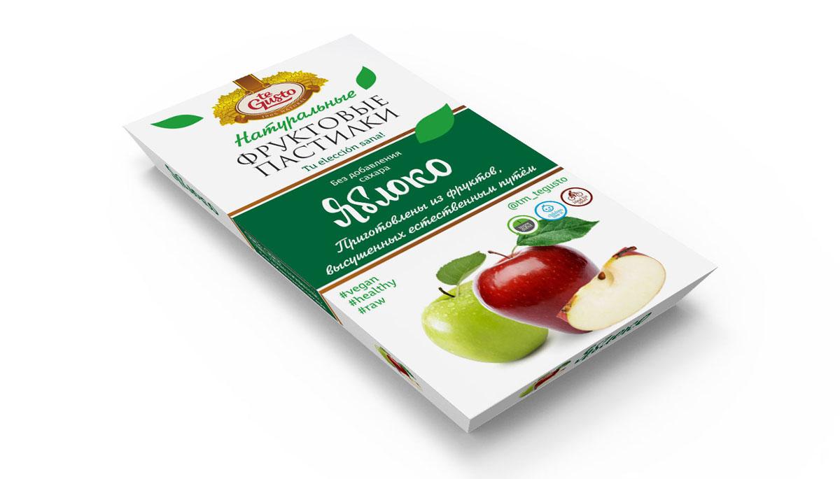 te Gusto Фруктовые пастилки из яблок, 90 г полезный перекус