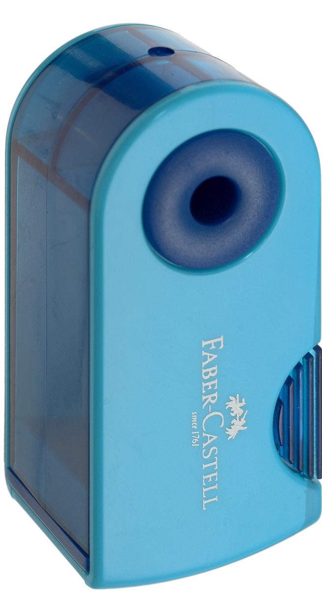 Faber-Castell Мини-точилка Sleeve цвет синий голубойFS-36054Мини-точилка Faber-Castell Sleeve выполнена из прочного пластика.В точилке имеется одно отверстие для карандашей классического диаметра. Эргономичная форма контейнераобеспечивает стабильное положение кисти. Карандаш затачивается легко иаккуратно, а опилки после заточки остаются в специальном контейнереповышенной вместимости.