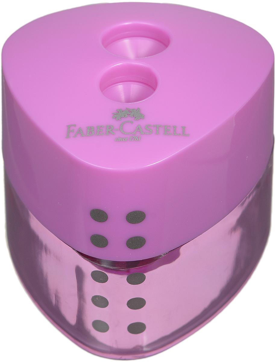Faber-Castell Точилка Grip цвет сиреневыйFS-36054Точилка с автоматическим закрытием Faber-Castell Grip предназначена для затачивания разных типов карандашей.Прозрачный контейнер позволяет визуально определить уровень заполнения и вовремя произвести очистку. Острые стальные лезвия на двух отделениях обеспечивают высококачественную и точную заточку карандашей.