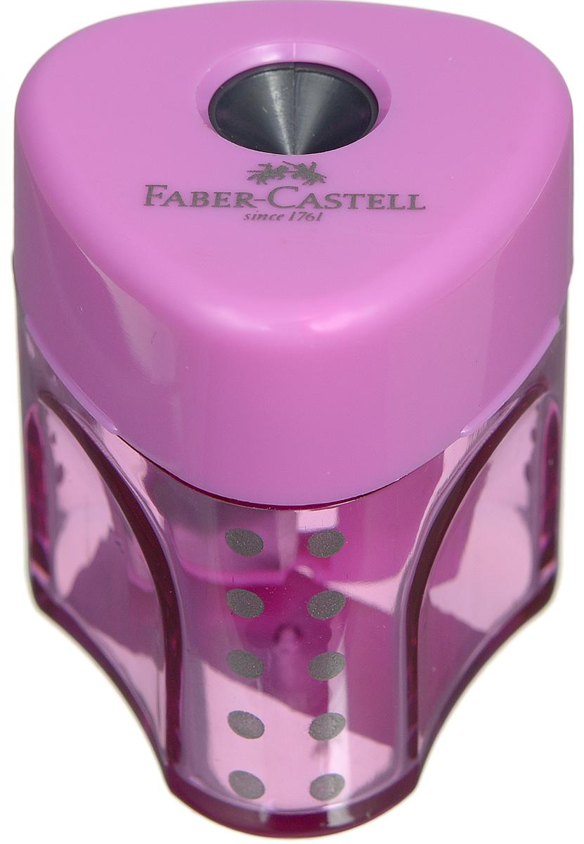 Faber-Castell Точилка Grip цвет сиреневый 183403FS-36052Точилка с автоматическим закрытием Faber-Castell Grip предназначена для затачивания карандашей классического диаметра.Прозрачный контейнер позволяет визуально определить уровень заполнения и вовремя произвести очистку. Острые стальные лезвия на отделении обеспечивают высококачественную и точную заточку карандашей.