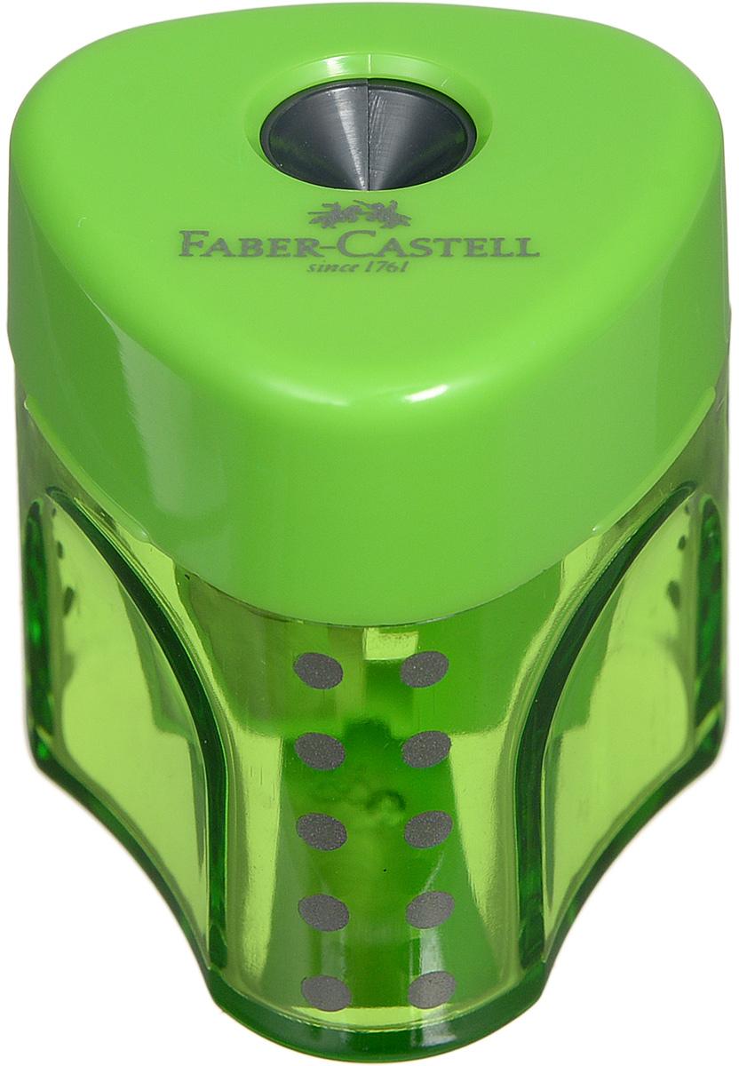 Faber-Castell Точилка Grip цвет зеленый 18340372523WDТочилка с автоматическим закрытием Faber-Castell Grip предназначена для затачивания карандашей классического диаметра.Прозрачный контейнер позволяет визуально определить уровень заполнения и вовремя произвести очистку. Острые стальные лезвия на отделении обеспечивают высококачественную и точную заточку карандашей.