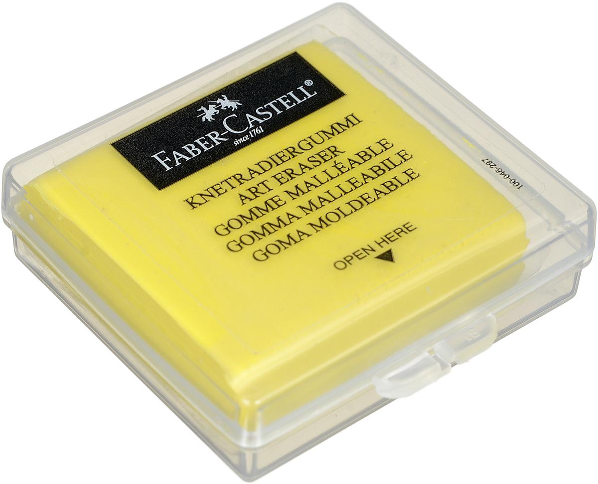 Faber-Castell Художественный ластик цвет желтый72523WDЛастик Faber-Castell пригодится любому художнику. Аккуратный ластик не оставляет грязных разводов. Кроме того, он будет долго служить для коррекции и осветления рисунков, созданных мягкими карандашами, углем или пастелью. После загрязнения ластика необходимо промять его и снова придать форму.