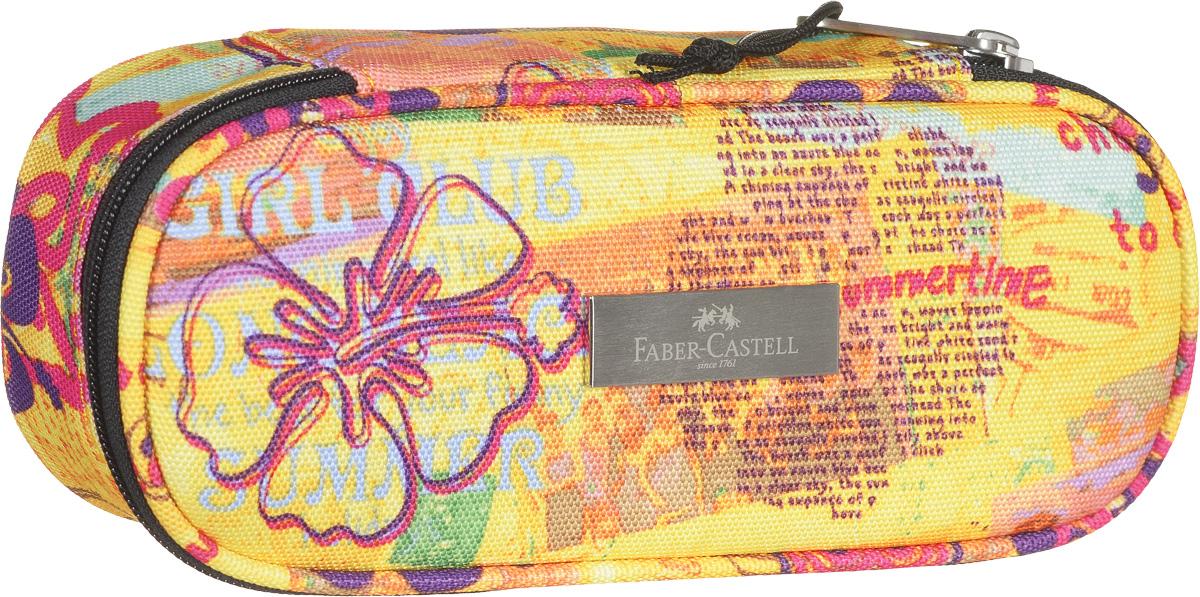 Faber-Castell Пенал цвет желтый 191807191807_желтыйСтильный пенал Faber-Castell выполнен из прочного материала и оформлен металлической вставкой с названием бренда.Пенал содержит одно отделение для канцелярских принадлежностей и закрывается на застежку-молнию. Внутри отделения находятся небольшой кармашек на молнии и эластичный фиксатор.Пенал послужит отличным помощником во время занятий и позволит сохранить порядок на рабочем столе.