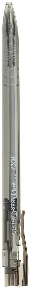 Faber-Castell Ручка шариковая RX-7 цвет черный72523WDШариковая ручка Faber-Castell RX-7 эргономичной трехгранной формы станет незаменимым атрибутом учебы или работы. Прозрачный корпус ручки выполнен из пластика и соответствует цвету чернил. Высококачественные чернила позволяют добиться идеальной плавности письма. Ручка имеет качественный нажимной механизм и оснащена упругим клипом для удобной фиксации на бумаге или одежде.