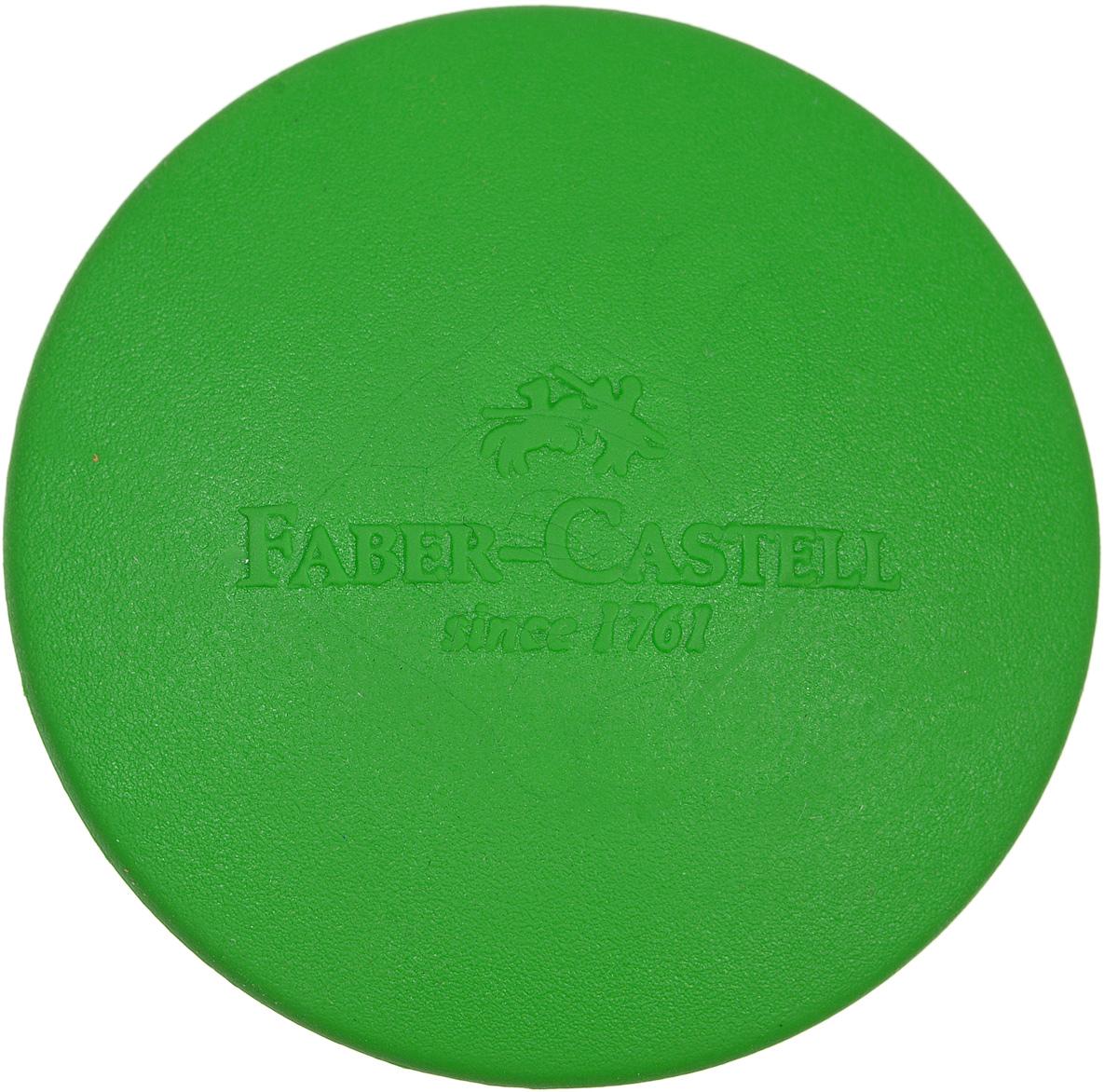 Faber-Castell Ластик цвет зеленый182400Круглый ластик Faber-Castell - незаменимый аксессуар на рабочем столе не только школьника или студента, но и офисного работника. Он легко и без следа удаляет надписи, сделанные карандашом. Благодаря удобной форме его комфортно держать в руке.