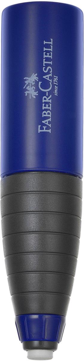 Faber-Castell Точилка со встроенным ластиком цвет темно-синий184401_синийТочилка со встроенным ластиком Faber-Castell предназначена для заточки стандартных чернографитных и цветных карандашей диаметром до 10 мм. В корпус, форма которого имитирует короткий и толстый карандаш, встроена точилка для карандашей и твердый ластик (изготовленный без добавления ПВХ). Ластик выдвигается из корпуса, если покрутить цветное пластиковое колечко снизу изделия. Общая длина ластика - 2 см. Защитный кожух на точилке имеет 2 положения - закрыто и открыто. Можно поточить карандаш и закрыть отверстие для заточки, если в этот момент нет возможности вытряхнуть стружку. Чтобы очистить точилку, нужно повернуть кожух в положение между открыто и закрыто и аккуратно стянуть его с корпуса.