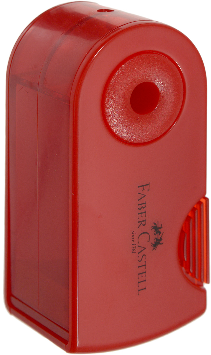 Faber-Castell Мини-точилка Sleeve цвет красныйFS-36052Мини-точилка Faber-Castell Sleeve выполнена из прочного пластика.В точилке имеется одно отверстие для карандашей классического диаметра. Эргономичная форма контейнераобеспечивает стабильное положение кисти. Карандаш затачивается легко иаккуратно, а опилки после заточки остаются в специальном контейнереповышенной вместимости.