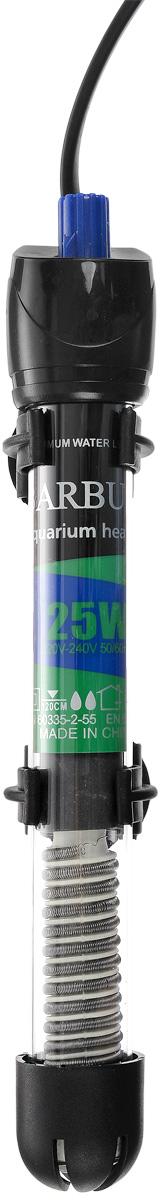 Обогреватель для аквариума Barbus HL-25W, стеклянный, с терморегулятором, 25 Вт0120710Обогреватель для аквариума Barbus HL-25W оснащен легкой и точной регулировкой температуры. Термостат поддерживает заданную температуру. Нагревательный элемент имеет высокую эффективность. Колба выполнена из высококачественного кварцевого стекла. Для полного погружения. Изделие крепится при мощи двух присосок на стенку аквариума. В комплект входит инструкция по эксплуатации. С таким обогревателем ваш уход за жителями аквариума станет еще приятнее и проще.Мощность: 25 Вт.Напряжение: 220-240 В. Частота: 50/60 Гц.Рекомендуемый объем аквариума: 10-40 л.Диапазон температуры эксплуатации: 20-32°C.