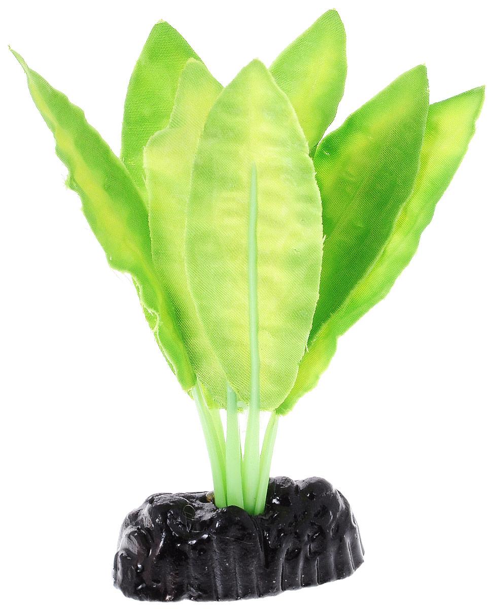 Растение для аквариума Barbus Апоногетон натанс, шелковое, высота 10 смAccessory 049Растение для аквариума Barbus Апоногетон натанс, выполненное из качественного шелка, станет оригинальным украшением вашего аквариума. В воде создается абсолютная имитация живого растения. Можно использовать в любой воде: пресной или морской. Изделие полностью безопасно для обитателей аквариума, не токсично, нейтрально к водному балансу, устойчиво к истиранию краски. Растение Barbus поможет вам смоделировать потрясающий пейзаж на дне вашего аквариума или террариума. Высота растения: 10 см.