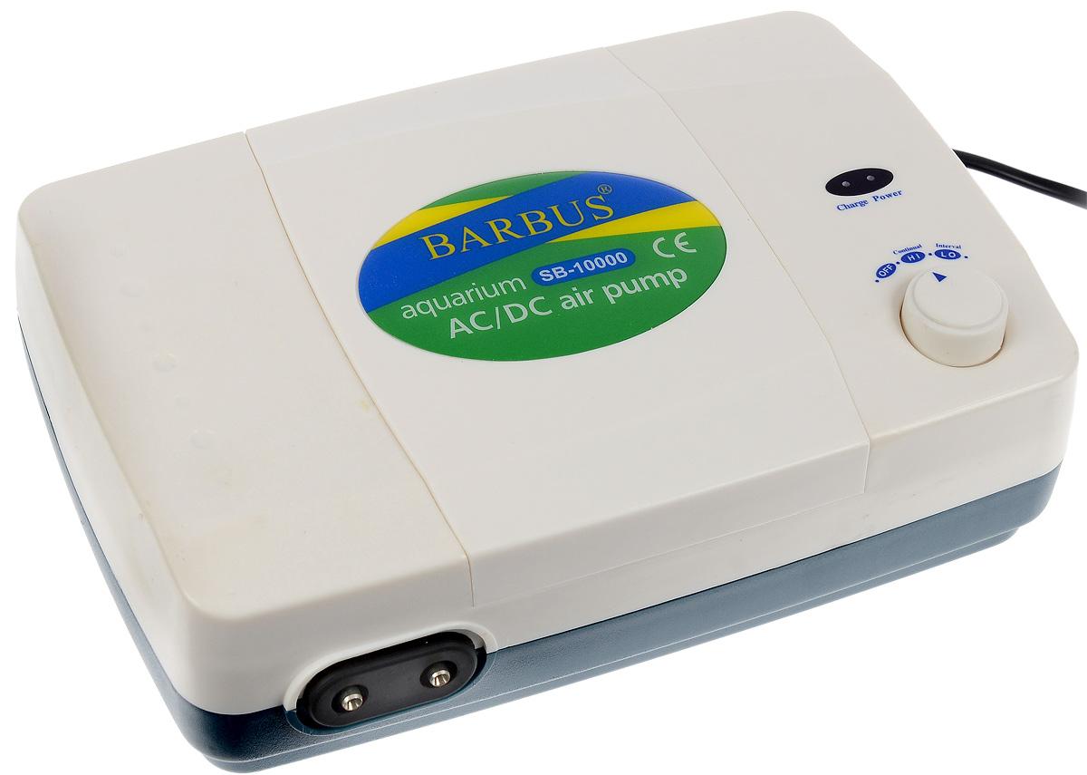 Компрессор воздушный аквариумный Barbus, 2 канала, 250 л/ч, 12 Вт607668Компрессор воздушный аквариумный Barbus изготовлен из высококачественных материалов для снижения шума и вибрации. Имеет регулятор скорости потока воздуха (3 уровня мощности) и два выхода с производительностью по 4 литра в минуту. Простая конструкция компрессора обеспечивает надежную работу в течение длительного время. Резиновая мембрана гарантирует высокую износостойкость. Компрессор имеет стандартные разъемы для аквариумных аксессуаров. Оснащен индикаторными светодиодами. Изделие работает как от батареи, так и от электросети. Способен работать до 12 часов без электросети. После окончания заряда батареи необходимо зарядить аккумулятор через электросеть. Чем дольше компрессор работает от аккумулятора, тем выше скорость подачи воздуха, которая находится уровнем ниже. Напряжение: 220-240 В.