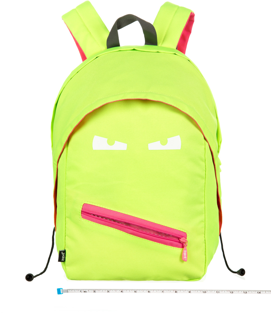 Zipit Рюкзак Grillz Backpacks цвет лайм72523WDКлассный дизайн - с Zipit Grillz рюкзак дети будут с хорошим настроением весь день! Крыша, глаза и растегивающийся рот - это отличает рюкзак от других! У рюкзака одно основное отделение и один маленький внешний карман. Мягкая спинка и регулируемые мягкие ремни - все, что нужно для комфорта!