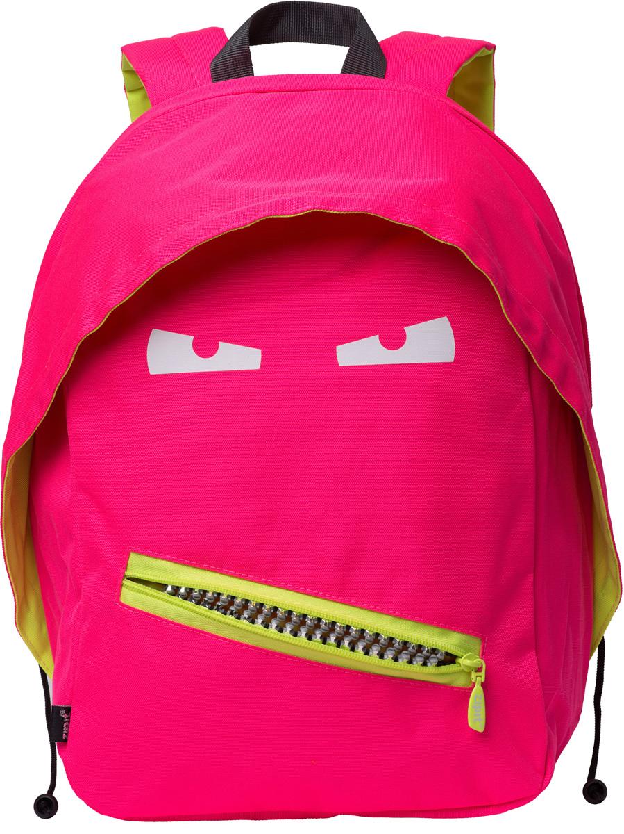 Zipit Рюкзак Grillz Backpacks цвет розовый неон72523WDКлассный дизайн - с Zipit Grillz рюкзак дети будут с хорошим настроением весь день! Крыша, глаза и растегивающийся рот - это отличает рюкзак от других! У рюкзака одно основное отделение и один маленький внешний карман. Мягкая спинка и регулируемые мягкие ремни - все, что нужно для комфорта!