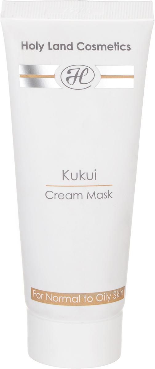 Holy Land Сокращающая маска Kukui Cream Mask For Oily Skin 70 млFS-00897Маска комбинированного действия (сокращающая, лифтинговая, отбеливающая) для жирной и нормальной кожи. Действие: Очищает кожу и удаляет мертвые клетки эпидермиса. Поглощает избыточный жир, стягивает поры. Выравнивает текстуру и цвет, разглаживает и подтягивает кожу. Сокращает капилляры. Активные компоненты: Масло ореха кукуи, масло ореха макадамии.
