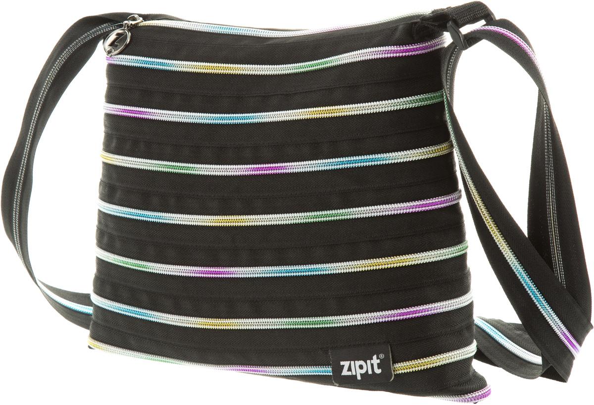 Zipit Сумка Medium Shoulder Bag цвет черный мультиS76245СДЕЛАН ИЗ ОДНОЙ ДЛИННОЙ МОЛНИИ! - Конструктивные особенности - одна длинная молния, которая может быть полностью растегнута! Стильная необычная сумка порадует девочек и девушек! Регулируемая лямка через плечо, различные расцветки - каждый выберет для себя то, что хочется! Выделиться из толпы и украсить ваш день поможет сумка zipit.