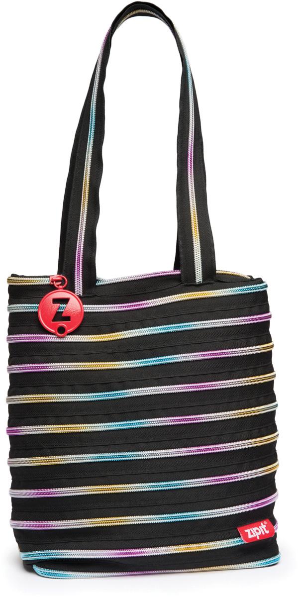 Zipit Сумка Premium Tote Beach Bag цвет черный мульти2582-1белыеСДЕЛАН ИЗ ОДНОЙ ДЛИННОЙ МОЛНИИ! - Конструктивные особенности - одна длинная молния, которая может быть полностью растегнута! Стильная необычная сумка порадует девочек и девушек! Регулируемая лямка через плечо, различные расцветки - каждый выберет для себя то, что хочется! Выделиться из толпы и украсить ваш день поможет сумка zipit.