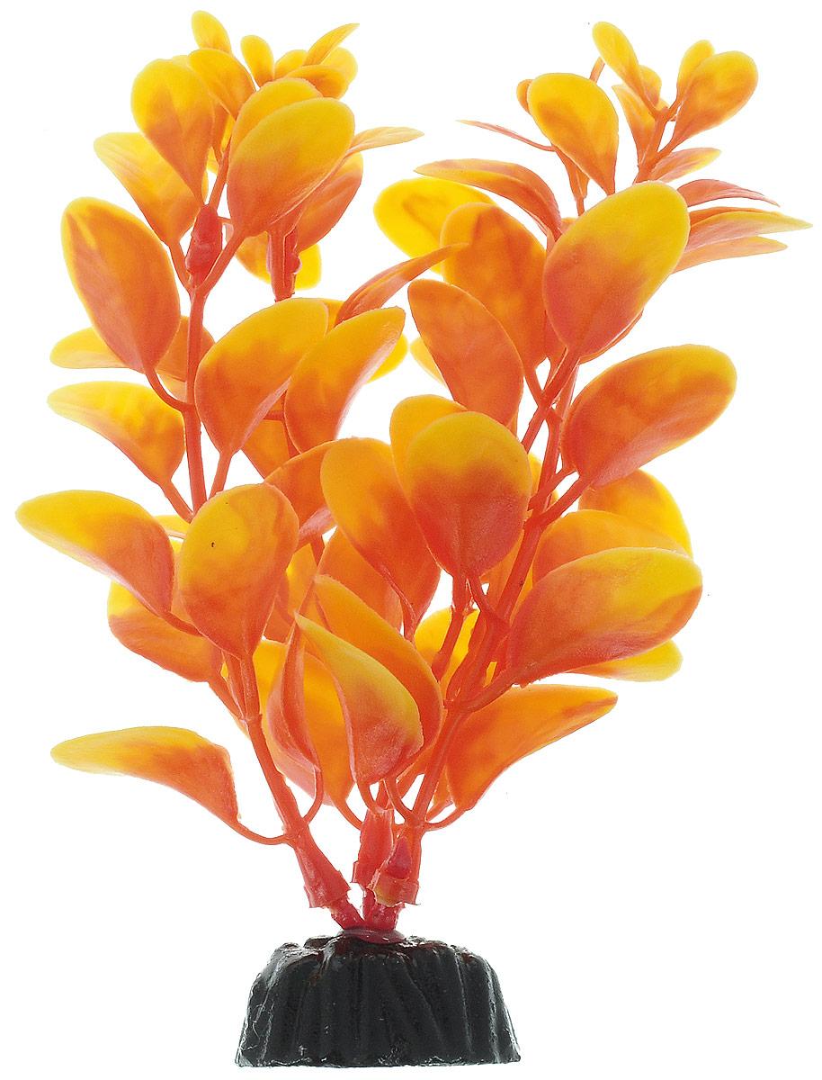 Растение для аквариума Barbus Людвигия, пластиковое, цвет: оранжевый, высота 10 см растение для аквариума barbus людвигия ползучая красная пластиковое высота 30 см