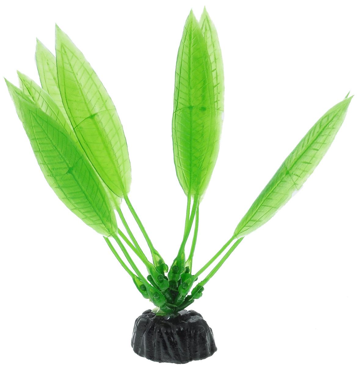 Растение для аквариума Barbus Эхинодорус амазонский, пластиковое, высота 10 см растение для аквариума barbus людвигия ползучая красная пластиковое высота 30 см