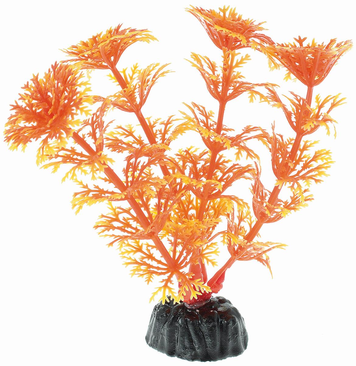 Растение для аквариума Barbus Кабомба, пластиковое, цвет: желто-оранжевый, высота 10 см0120710Растение Barbus Кабомба, выполненное из высококачественного нетоксичного пластика, станет оригинальным украшением вашего аквариума. Пластиковое растение идеально подходит для дизайна всех видов аквариумов. В воде происходит абсолютная имитация живых растений. Изделие не требует дополнительного ухода и просто в применении. Оно абсолютно безопасно, нейтрально к водному балансу, устойчиво к истиранию краски, подходит как для пресноводного, так и для морского аквариума. Растение для аквариума Barbus Кабомба поможет вам смоделировать потрясающий пейзаж на дне вашего аквариума.Высота растения: 10 см.