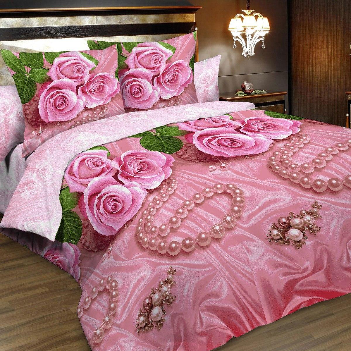 Комплект белья Letto, 2-спальный, наволочки 70х70. B161-4CA-3505Комплект постельного белья Letto выполнен из классической российской бязи (хлопка). Комплект состоит из пододеяльника, простыни и двух наволочек.Постельное белье, оформленное ярким цветочным 3D изображением, имеет изысканный внешний вид. Пододеяльник снабжен молнией.Благодаря такому комплекту постельного белья вы сможете создать атмосферу роскоши и романтики в вашей спальне. Уважаемые клиенты! Обращаем ваше внимание на тот факт, что расцветка наволочек может отличаться от представленной на фото.