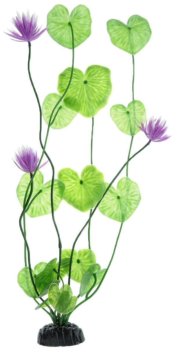 Растение для аквариума Barbus Лилия зеленая с цветком, пластиковое, высота 50 см