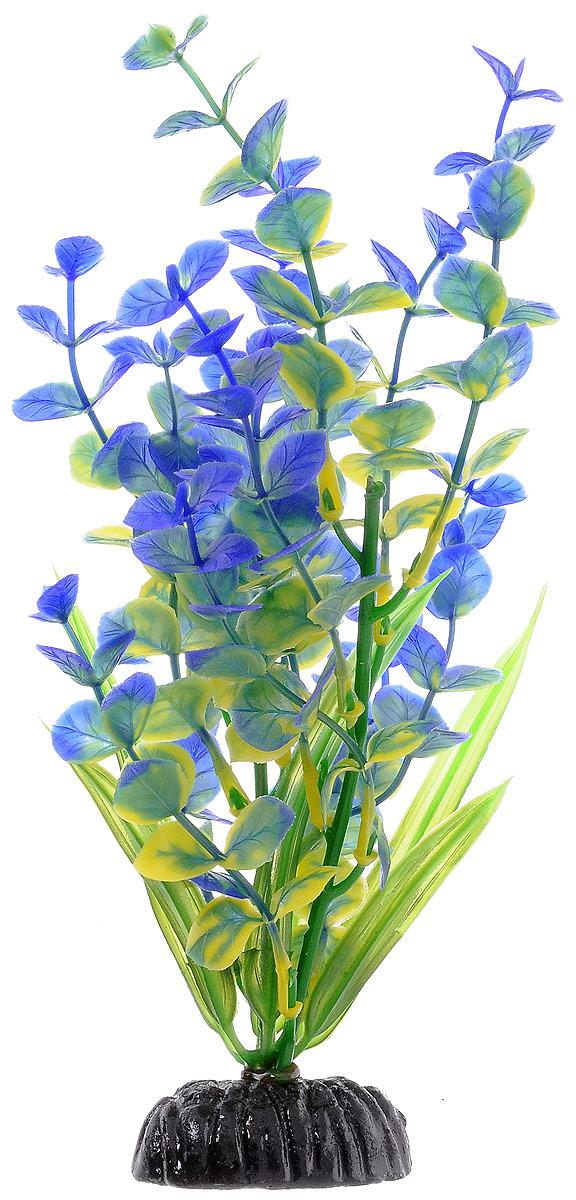 Растение для аквариума Barbus Бакопа, пластиковое, цвет: зеленый, синий, желтый, высота 20 см0120710Растение для аквариума Barbus Бакопа, выполненное из качественного пластика, станет оригинальным украшением вашего аквариума. Пластиковое растение идеально подходит для дизайна всех видов аквариумов. Оно абсолютно безопасно, нейтрально к водному балансу, устойчиво к истиранию краски, подходит как для пресноводного, так и для морского аквариума. Растение для аквариума Barbus поможет вам смоделировать потрясающий пейзаж на дне вашего аквариума или террариума. Высота растения: 20 см.