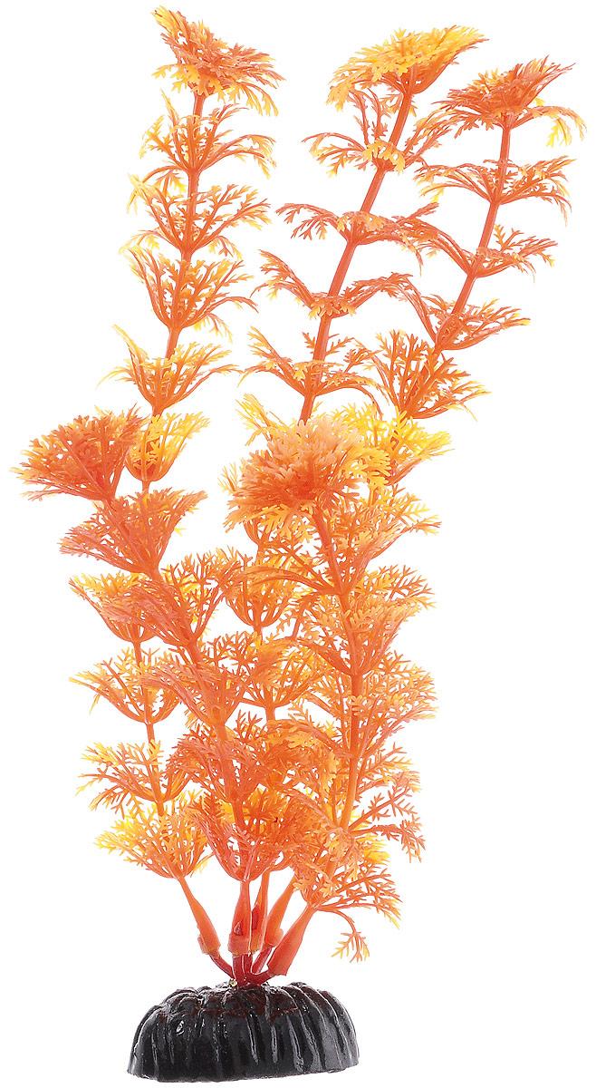 Растение для аквариума Barbus Кабомба, пластиковое, цвет: желто-оранжевый, высота 20 см0120710Растение Barbus Кабомба, выполненное из высококачественного нетоксичного пластика, станет прекрасным украшением вашего аквариума. Пластиковое растение идеально подходит для дизайна всех видов аквариумов. В воде происходит абсолютная имитация живых растений. Изделие не требует дополнительного ухода. Оно абсолютно безопасно, нейтрально к водному балансу, устойчиво к истиранию краски, подходит как для пресноводного, так и для морского аквариума. Растение для аквариума Barbus Кабомба поможет вам смоделировать потрясающий пейзаж на дне вашего аквариума.Высота растения: 20 см.