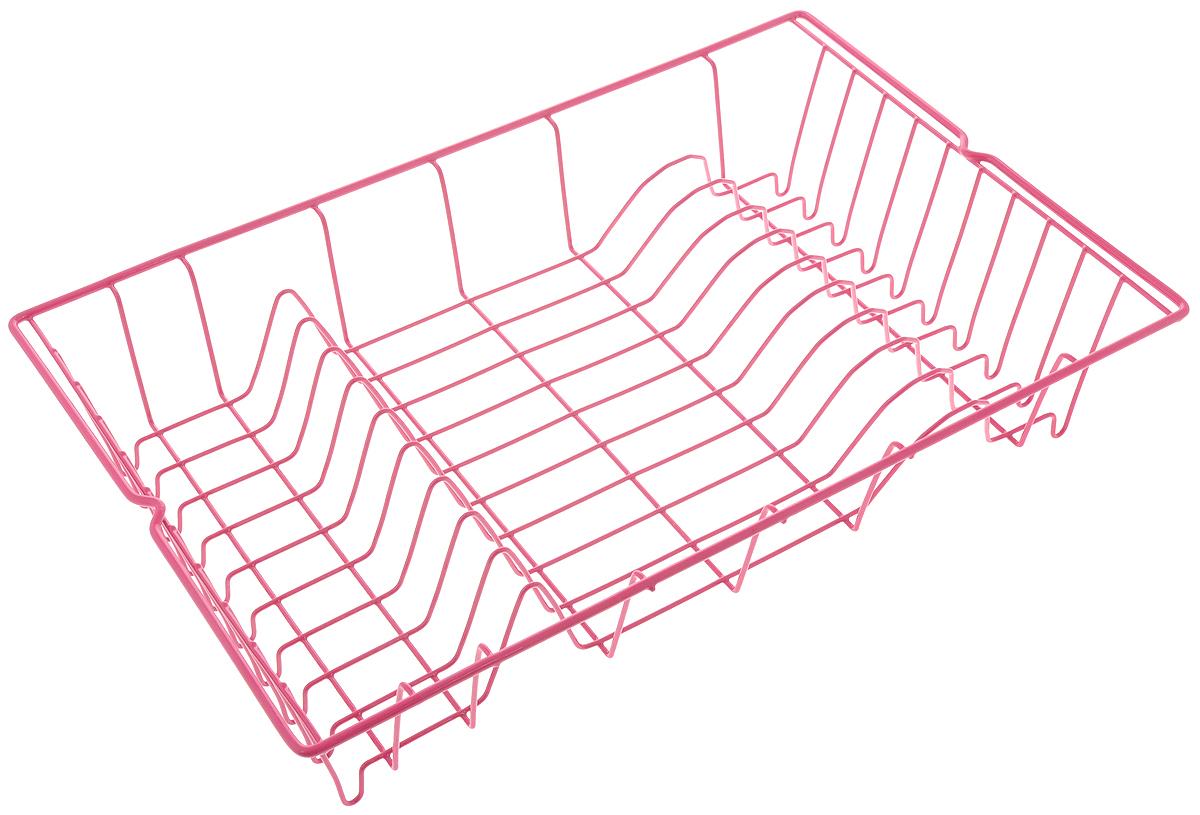 Сушилка для посуды Metaltex Germatex, цвет: малиновый, 48 х 30 х 10 смVT-1520(SR)Сушилка Metaltex Germatex, изготовленная из стали, представляет собой решетку с ячейками для посуды. Сушилка Metaltex Germatex не займет много места на вашей кухне. Вы сможете разместить на ней большое количество предметов. Компактные размеры и оригинальный дизайн выделяют эту сушилку из ряда подобных.Размер сушилки: 48 х 30 х 10 см.