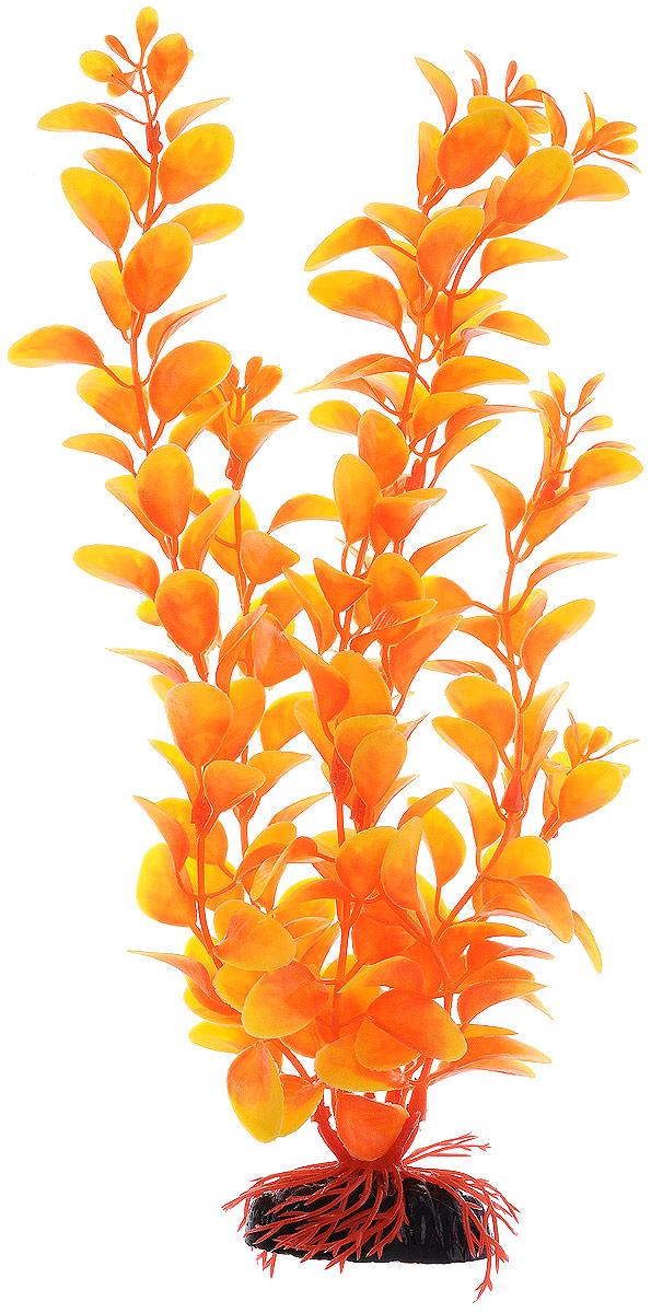 Растение для аквариума Barbus Людвигия, пластиковое, цвет: оранжевый, высота 30 см0120710Растение для аквариума Barbus Людвигия, выполненное из качественного пластика, станет оригинальным украшением вашего аквариума. Пластиковое растение идеально подходит для дизайна всех видов аквариумов. Оно абсолютно безопасно, не токсично, нейтрально к водному балансу, устойчиво к истиранию краски, подходит как для пресноводного, так и для морского аквариума. Растение для аквариума Barbus поможет вам смоделировать потрясающий пейзаж на дне вашего аквариума или террариума. Высота растения: 30 см.