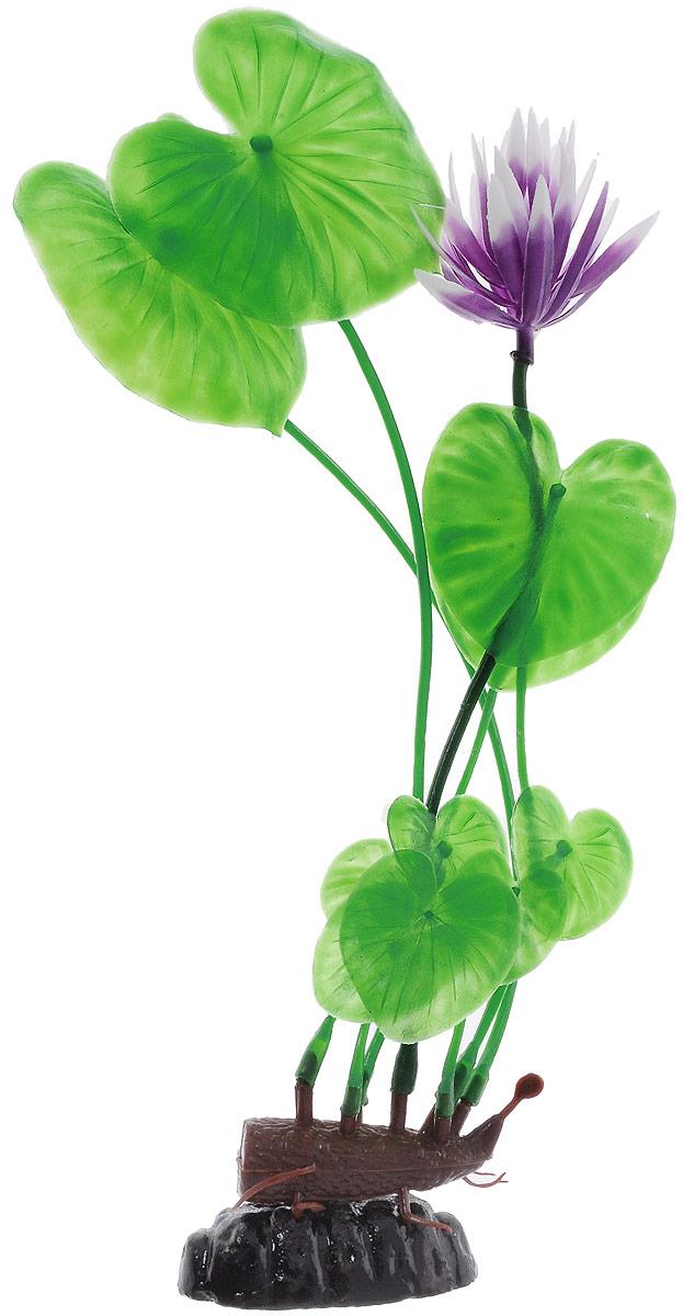 Растение для аквариума Barbus Лилия зеленая с цветком, пластиковое, высота 30 см0120710Растение Barbus Лилия зеленая с цветком, выполненное из высококачественного нетоксичного пластика, станет прекрасным украшением вашего аквариума. Пластиковое растение идеально подходит для дизайна всех видов аквариумов. В воде происходит абсолютная имитация живых растений. Изделие не требует дополнительного ухода. Оно абсолютно безопасно, нейтрально к водному балансу, устойчиво к истиранию краски, подходит как для пресноводного, так и для морского аквариума. Растение для аквариума Barbus Лилия зеленая с цветком поможет вам смоделировать потрясающий пейзаж на дне вашего аквариума.Высота растения: 30 см.