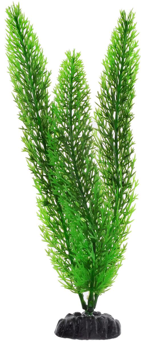 Растение для аквариума Barbus Роголистник, пластиковое, цвет: зеленый, высота 30 см0120710Растение для аквариума Barbus Роголистник, выполненное из качественного пластика, станет прекрасным украшением вашего аквариума. Пластиковое растение идеально подходит для дизайна всех видов аквариумов. Оно абсолютно безопасно, нейтрально к водному балансу, устойчиво к истиранию краски, подходит как для пресноводного, так и для морского аквариума. Растение для аквариума Barbus поможет вам смоделировать потрясающий пейзаж на дне вашего аквариума или террариума. Высота растения: 30 см.