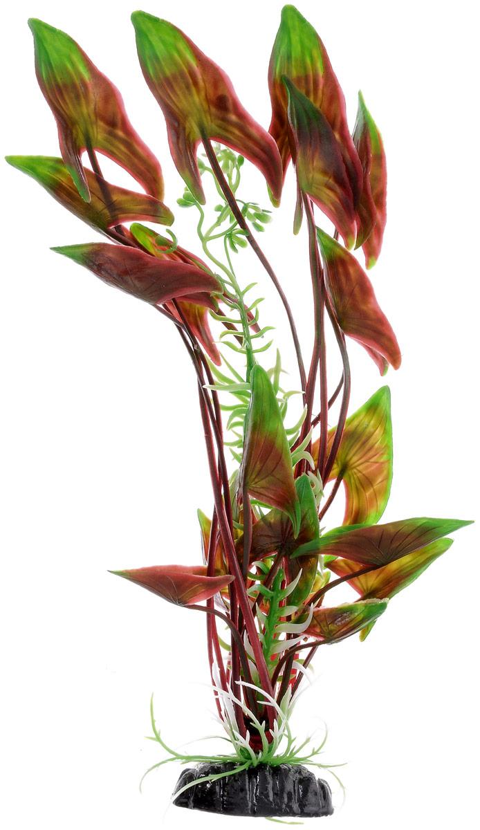 Растение для аквариума Barbus Водная Калла, пластиковое, высота 30 см101246Растение Barbus Водная Калла, выполненное из высококачественного нетоксичного пластика, станет прекрасным украшением вашего аквариума. Пластиковое растение идеально подходит для дизайна всех видов аквариумов. В воде происходит абсолютная имитация живых растений. Изделие не требует дополнительного ухода. Оно абсолютно безопасно, нейтрально к водному балансу, устойчиво к истиранию краски, подходит как для пресноводного, так и для морского аквариума. Растение для аквариума Barbus Водная Калла поможет вам смоделировать потрясающий пейзаж на дне вашего аквариума.Высота растения: 30 см.