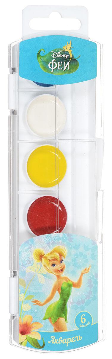 Disney Акварель Феи 6 цветовPP-219Акварельные краски Disney Феи выпускаются в удобной пластмассовой упаковке с прозрачной крышкой, безопасны для детей, нетоксичны. Краски быстро высыхают и не портятся со временем. Идеально подойдут для детского творчества и художественного изобразительного искусства. Яркие, насыщенные цвета красок отлично смешиваются между собой.