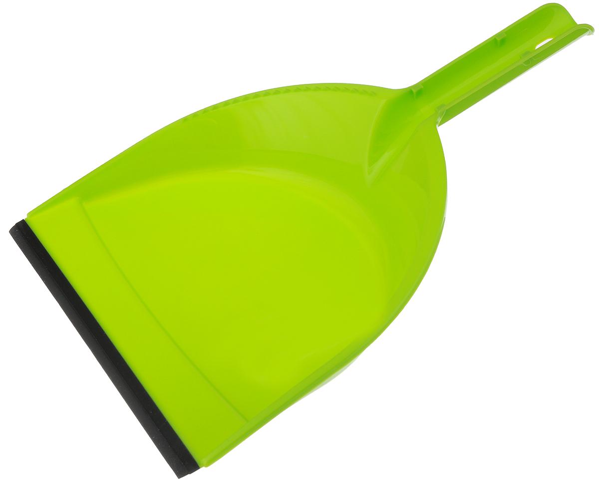 Совок York Клип, с резиновым краем, цвет: салатовый, черный6104_салатовый/061040Совок York Клип, выполненный из пластика, предназначен для сбора мусора и пыли при уборке помещений. Он оснащен эргономичной ручкой с петлей, которая позволит повесить изделие на крючок. Благодаря резиновому краю совка, в него легко сметать грязь и мусор.Размер рабочей части: 21 х 16 см.Длина ручки: 12 см.